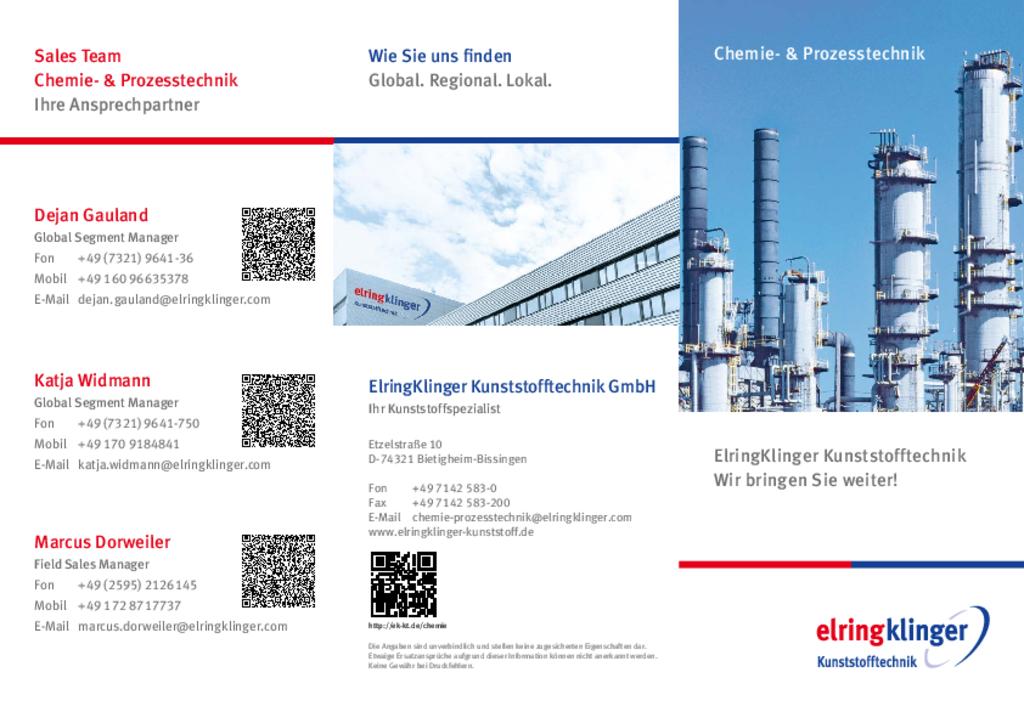 Flyer Chemie- und Prozesstechnik