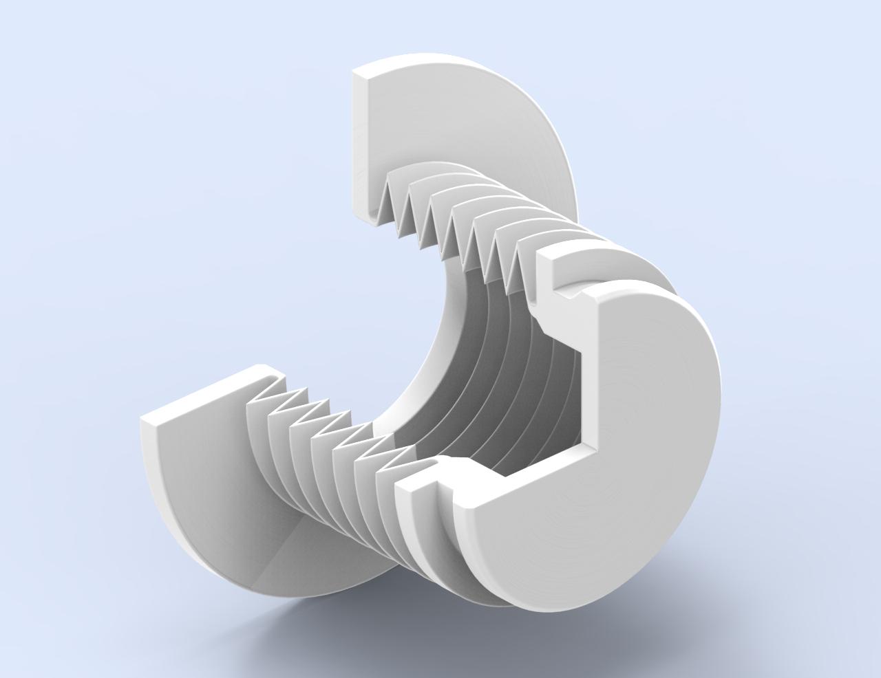 Faltenbalg für ein Magnetventil